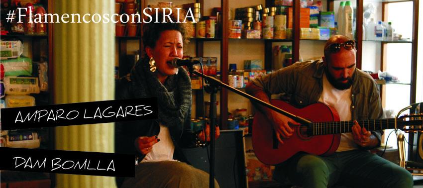 #FlamencosconSIRIA Amparo lagares y Dani Bonilla