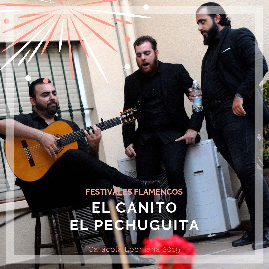 Artistas flamencos 54 Caracolá Lebrijana 2019_El Canito y El Pechuguita