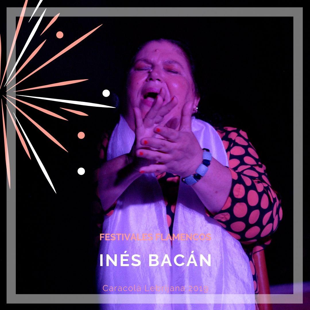 Artistas flamencos 54 Caracolá Lebrijana 2019_Inés Bacán