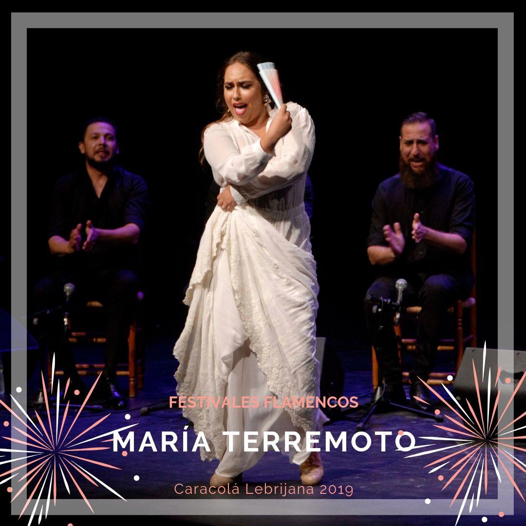 Artistas flamencos 54 Caracolá Lebrijana 2019_María Terremoto