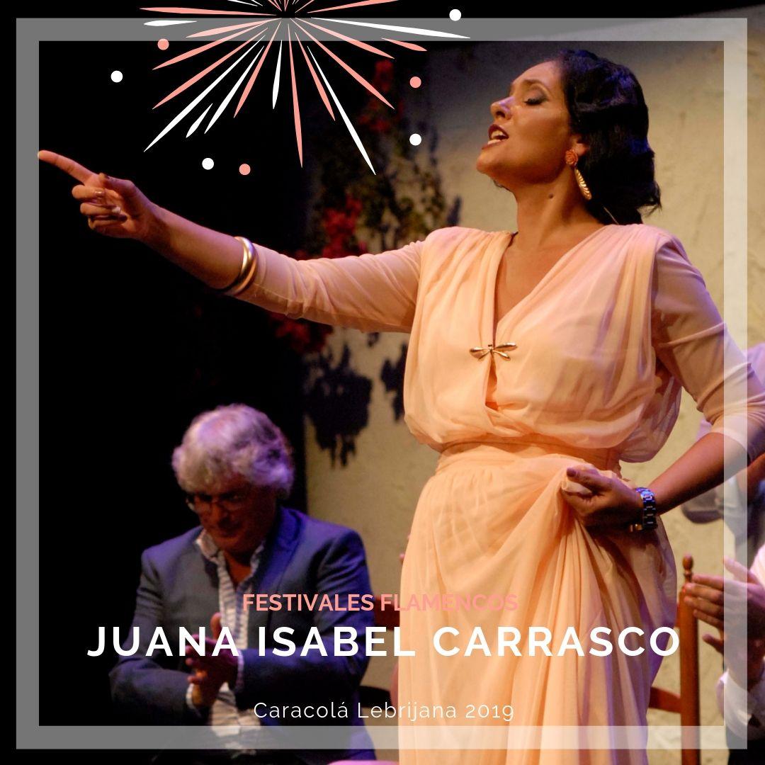 Artistas flamencos 54 Caracolá Lebrijana 2019_Juana Isabel